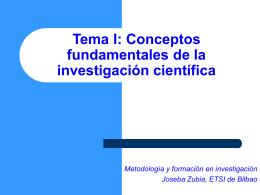 (I) Investigación