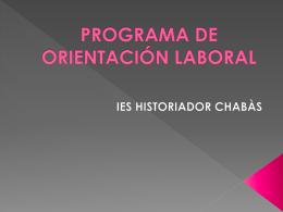 PROGRAMA DORIENTACIÓ LABORAL
