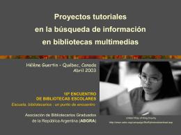 Présentation PowerPoint - Asociación de Bibliotecarios Graduados