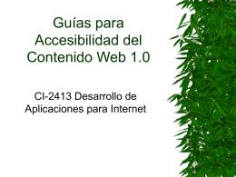 Guías para Accesibilidad del Contenido Web 1.0