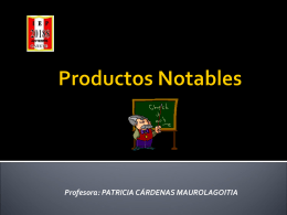 Productos Notables - mi centro educativo