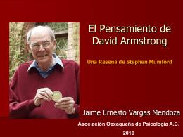 El Pensamiento de David Armstrong Una Reseña de