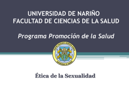 Ética de la Sexualidad - Programa Promoción de la Salud