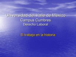 Derecho_Laboral. Antecedentes