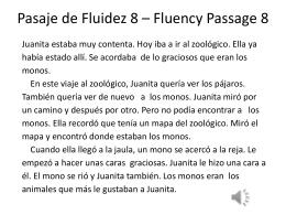 Pasaje de Fluidez 8 – Fluency Passage 8