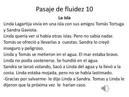 Pasaje de fluidez 10