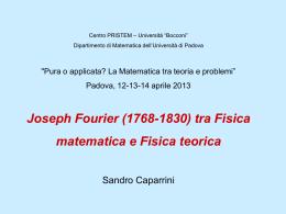 Joseph Fourier (1768-1830) - Matematica