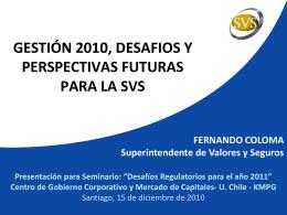 Supervisión Basada en Riesgo - Superintendencia de Valores y