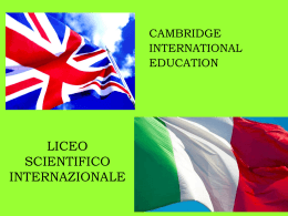 IGCSE Liceo Internazionale - Pacinotti