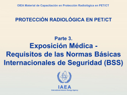 03. Exposición médica. Requisitos de las BSS