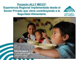 Proyecto ALLY MICUY: Experiencia Regional