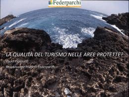 la qualità del turismo nelle aree protette