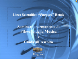 """Musica e magia""… - Liceo Scientifico"