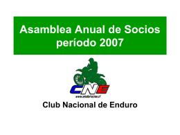 Asamblea Anual de Socios 2007 - CNE | Club Nacional de motos