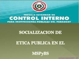 ¿Qué es el MECIP? - Ministerio de Salud Pública y Bienestar Social