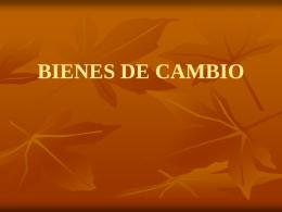 BIENES DE CAMBIO yo