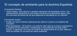Presentación en power point sobre el concepto de derecho ambiental.