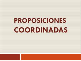 proposiciones coordinadas - Cancion