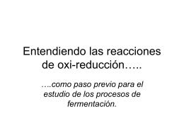 Entendiendo las reacciones de oxi-reducción…..