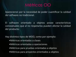 Métricas OO - materia