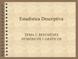 Estadística Descriptiva (Tema 2)