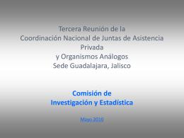Datos estadísticos sobre la Sociedad Civil Organizada en México.