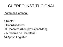 CUERPO INSTITUCIONAL