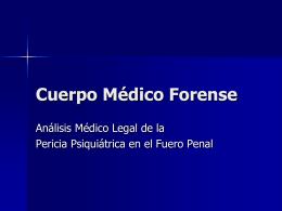 Cuerpo Médico Forense - Poder Judicial de la Provincia de Santa Fe