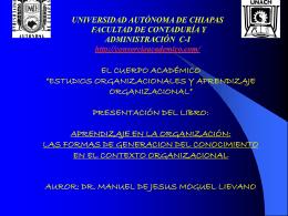 estudios organizacionales y aprendizaje organizacional