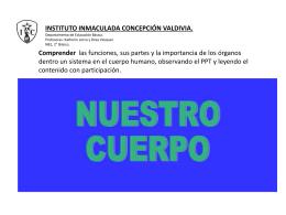 El cuerpo humano - Instituto Inmaculada Concepción Valdivia