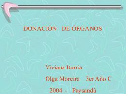 Natalia Corletto Amparo Fender 3ºI - Instituto Nacional de Donación