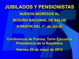 TODOS los JUBILADOS Y PENSIONISTAS