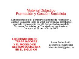 MODELO DE GESTION SOCIALISTA, RESUMIDO