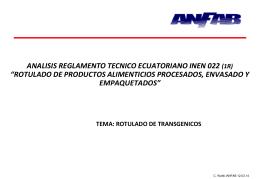 Rotulado de Transgenicos