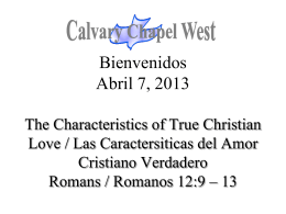 Romanos 12:9 - Calvary Chapel West