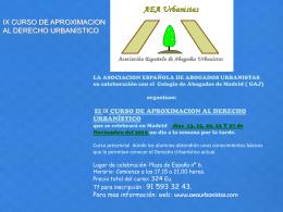 información click aqui - Asociación Española de Abogados Urbanistas