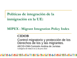 MIPEX-Migrant Integration Policy Index