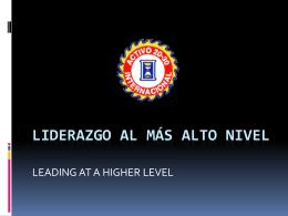 LIDERAZGO AL MÁS ALTO NIVEL - Club Activo 20