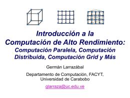 Computación Paralela - Universidad de Carabobo