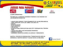 Catálogo general - Parques Alegres