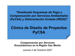 Clinica de Diseño de Proyectos PyCSA