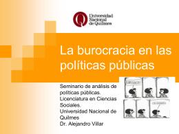 Burocracia y pp1 - Universidad Nacional de Quilmes