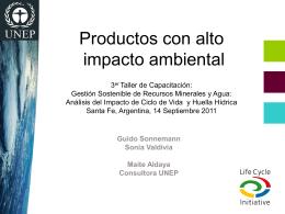 2. Productos con alto impacto ambiental_Valdivia_Aldaya 2011