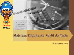 Matrices Diseño de Perfil de Tesis