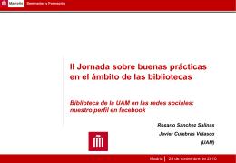 Biblioteca de la UAM en las redes sociales: nuestro perfil en facebook