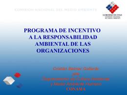 Programa de Incentivo a la Responsabilidad Ambiental