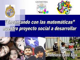 """""""Encantando a las matemáticas"""" nuestro proyecto social a construir"""