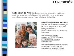 la nutrición - ESTE ES NUESTRO COLE ALONSO BERRUGUETE