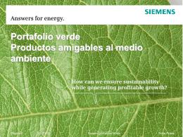 Pedro Quesada Juárez, Gerente de Energías Renovables, Siemens