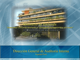 presentación - Ministerio de Hacienda